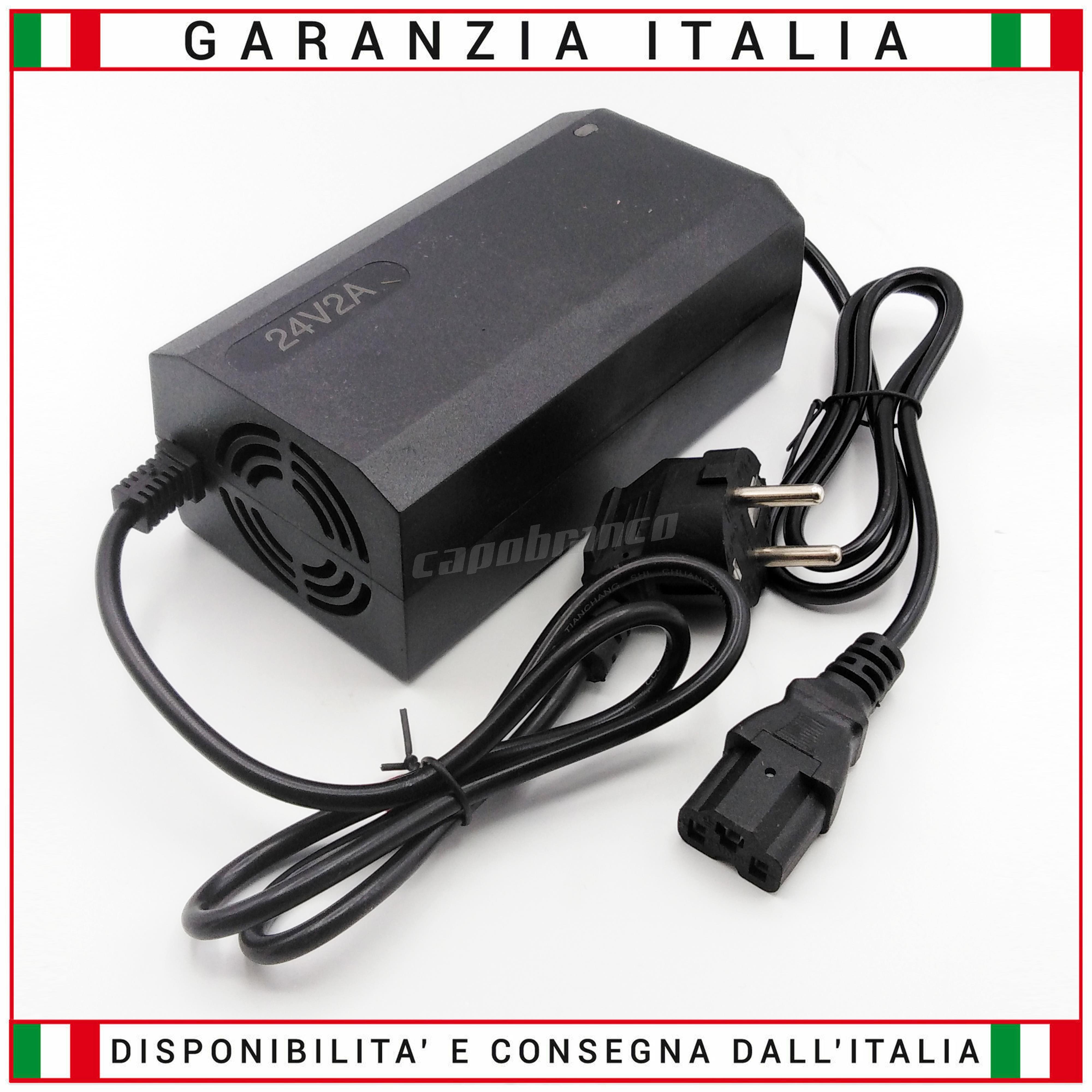 Caricabatterie per batterie al  PIOMBO 36V 2A CON VENTOLA Monopattino,Bici,Quad