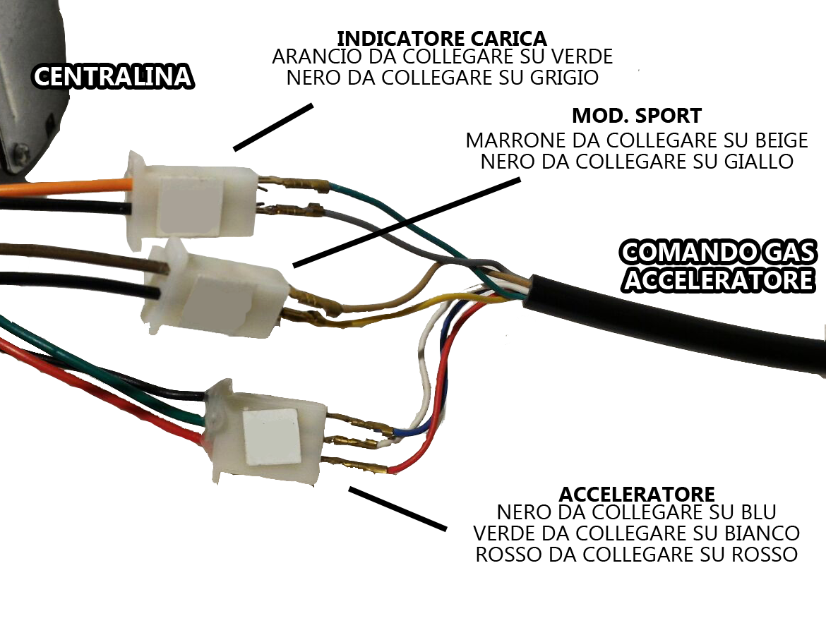 Capobranco Shop Product Mn02070 Trhottle 48 Volt Electric 36v Battery Indicator Wiring Diagram Our Technicians Are Always At Your Disposal For Further Information And Clarifications Contact Us 089 790184 Via Mail Info